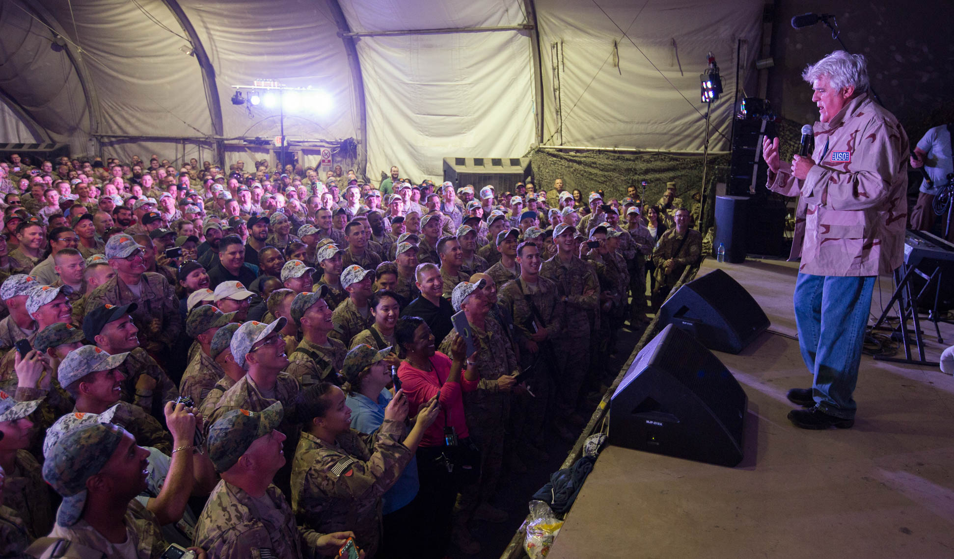 Jay Leno on USO Tour to Afghanistan