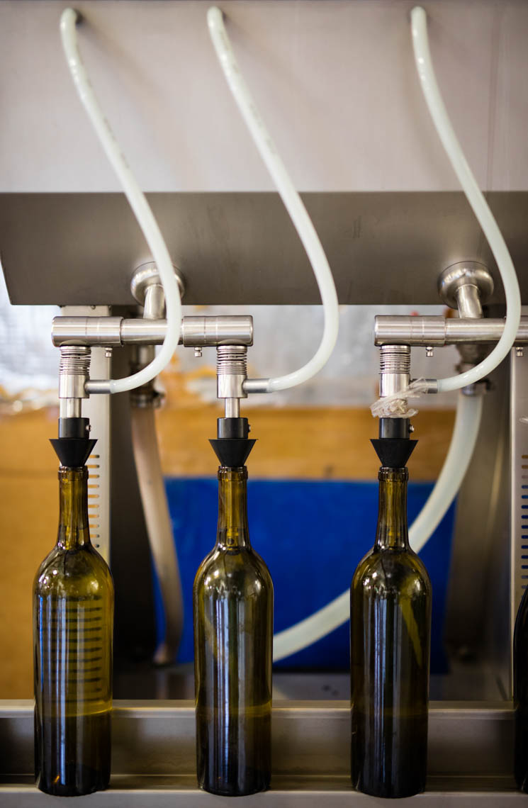 Bottling Wine at a Vineyard