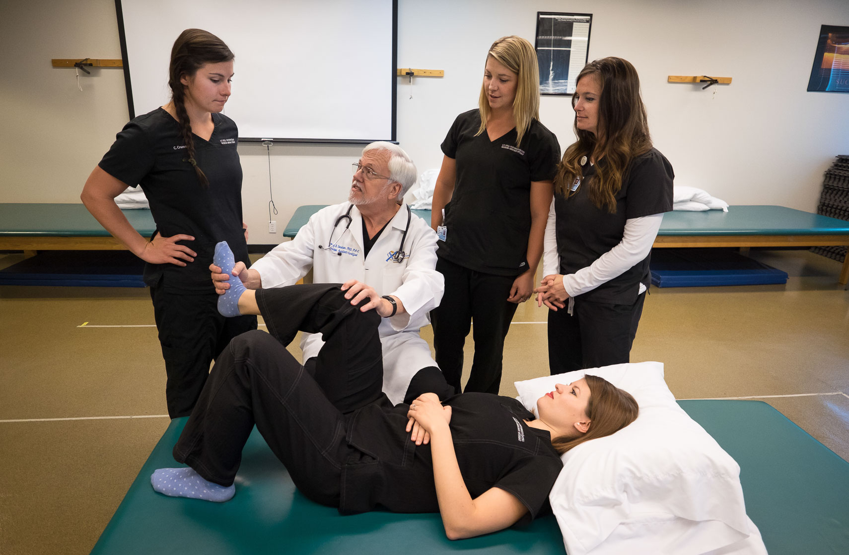 PA Danielsen Works with Students at Arizona School of Health Sciences