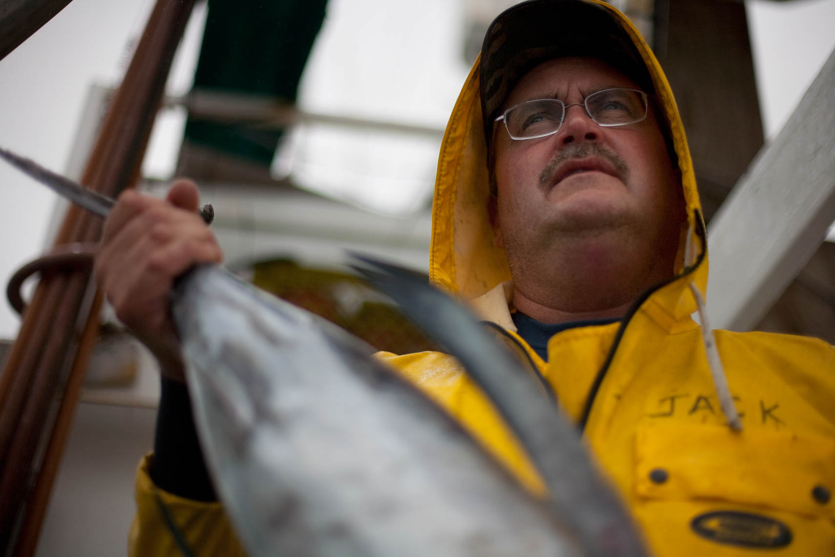 A Tuna Captain Holds an Albacore Tuna