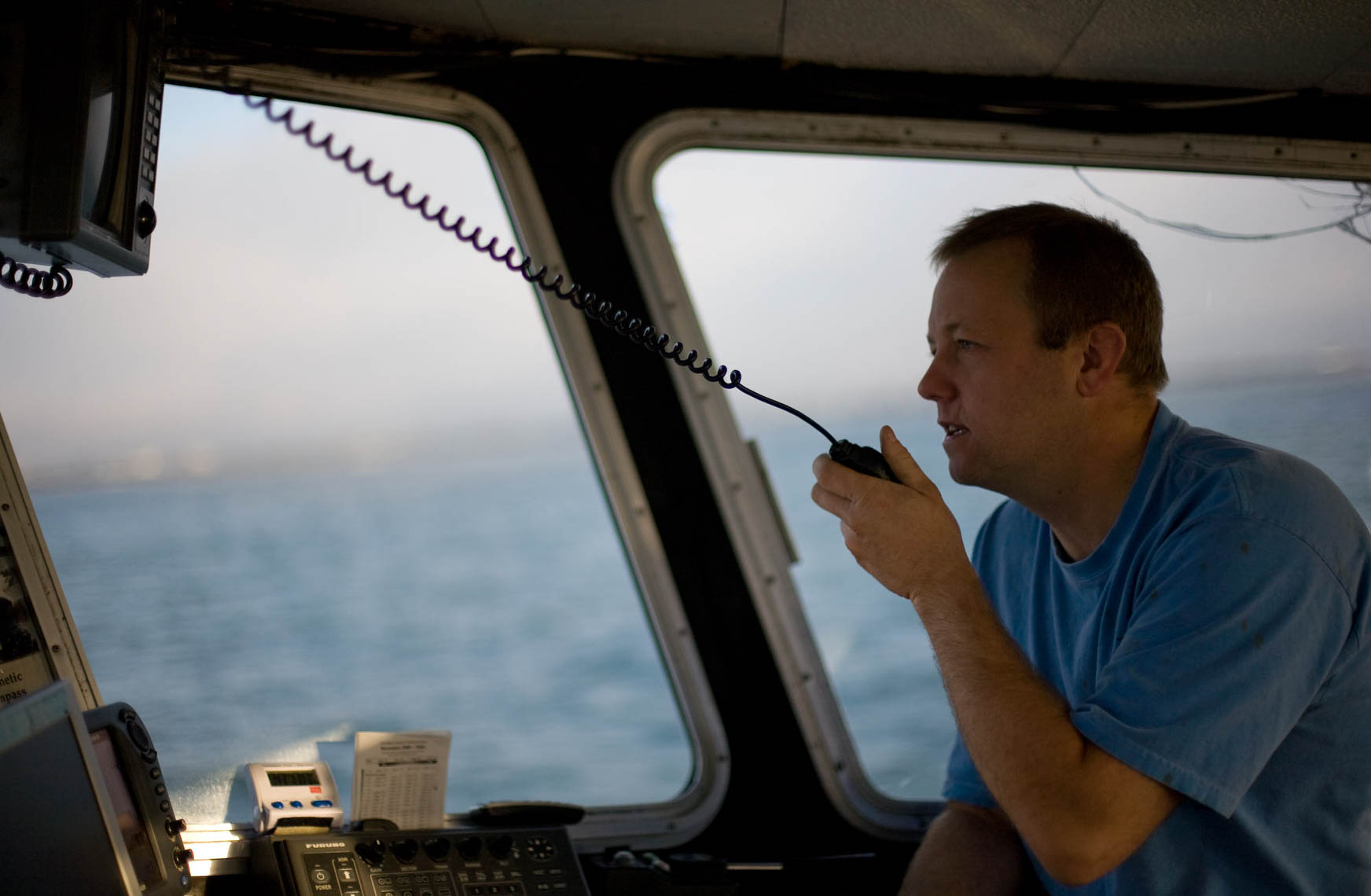 Tuna Captain Radios in Search for Tuna
