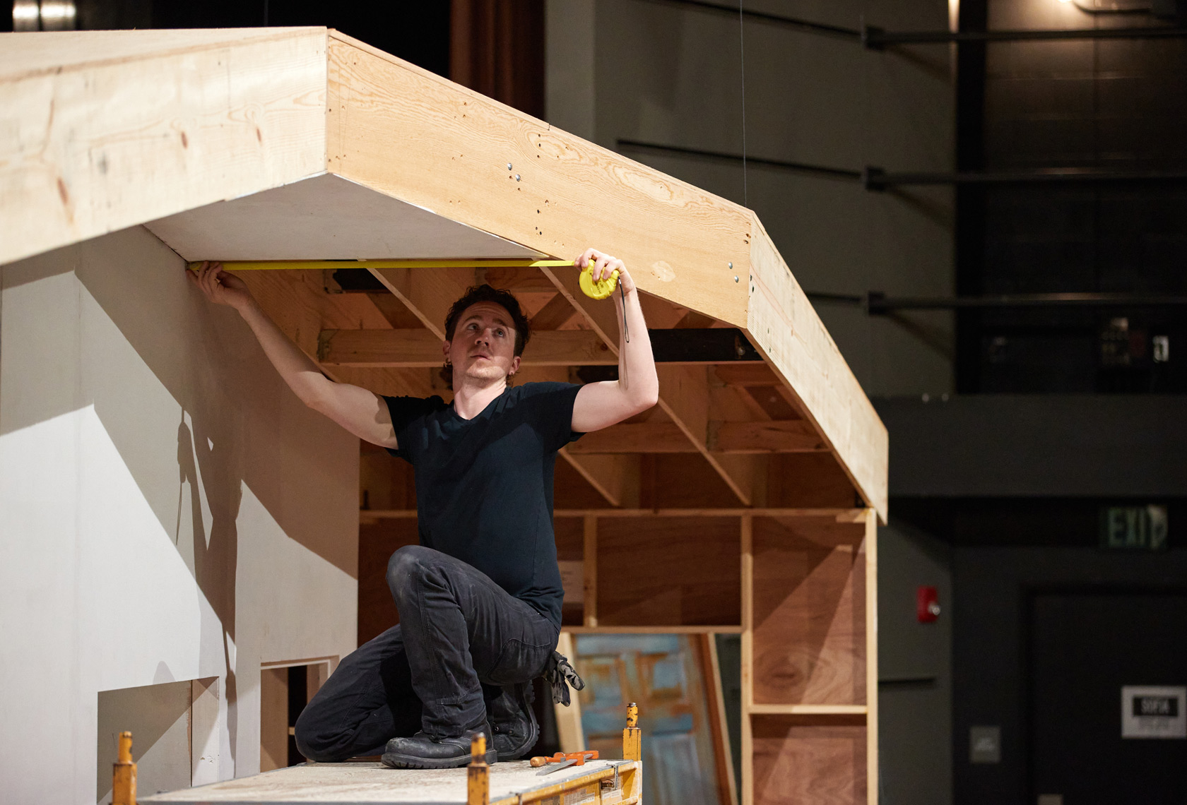 Building Roof on Theater Set