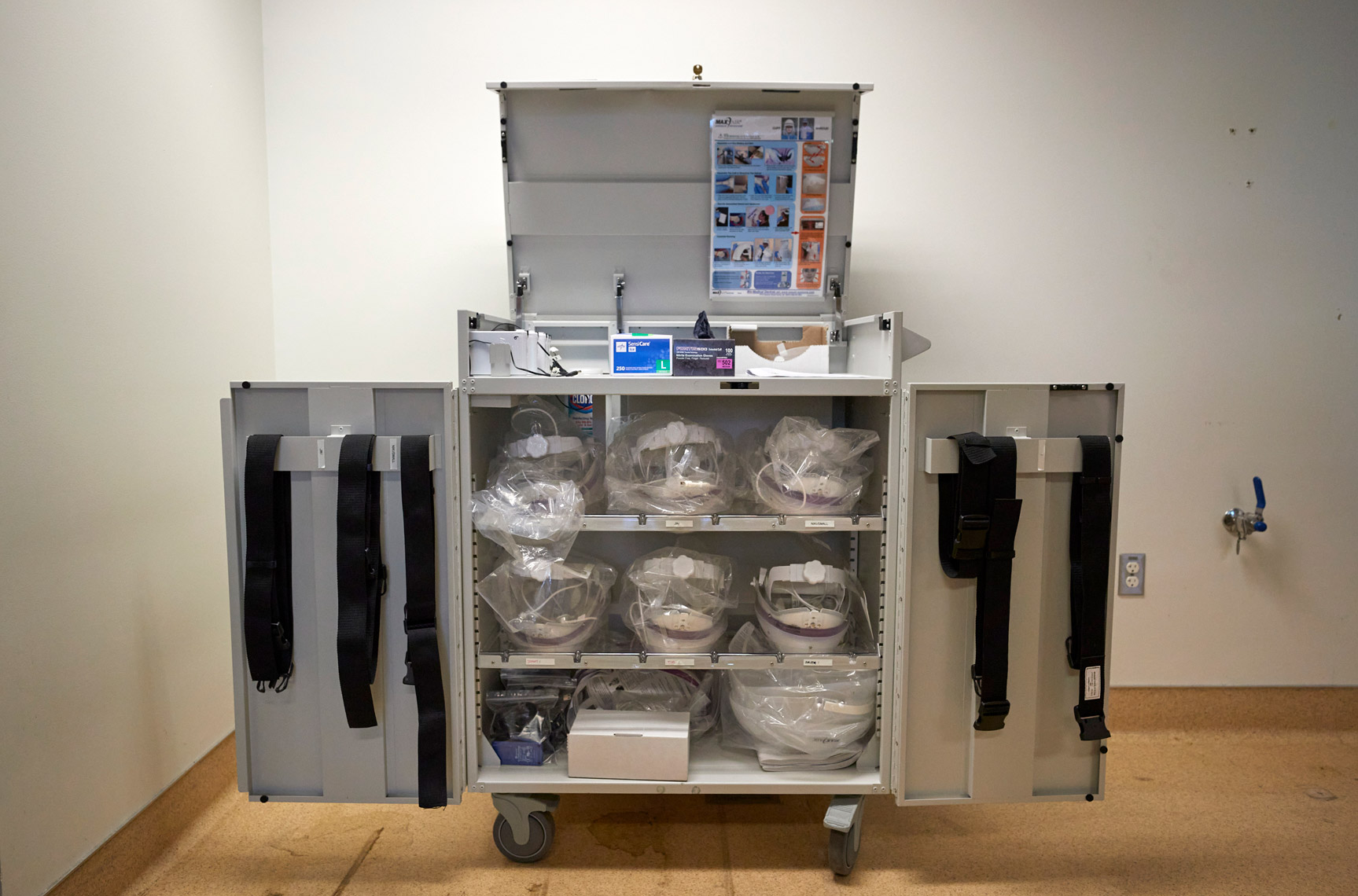 Personal Protective Equipment Cart