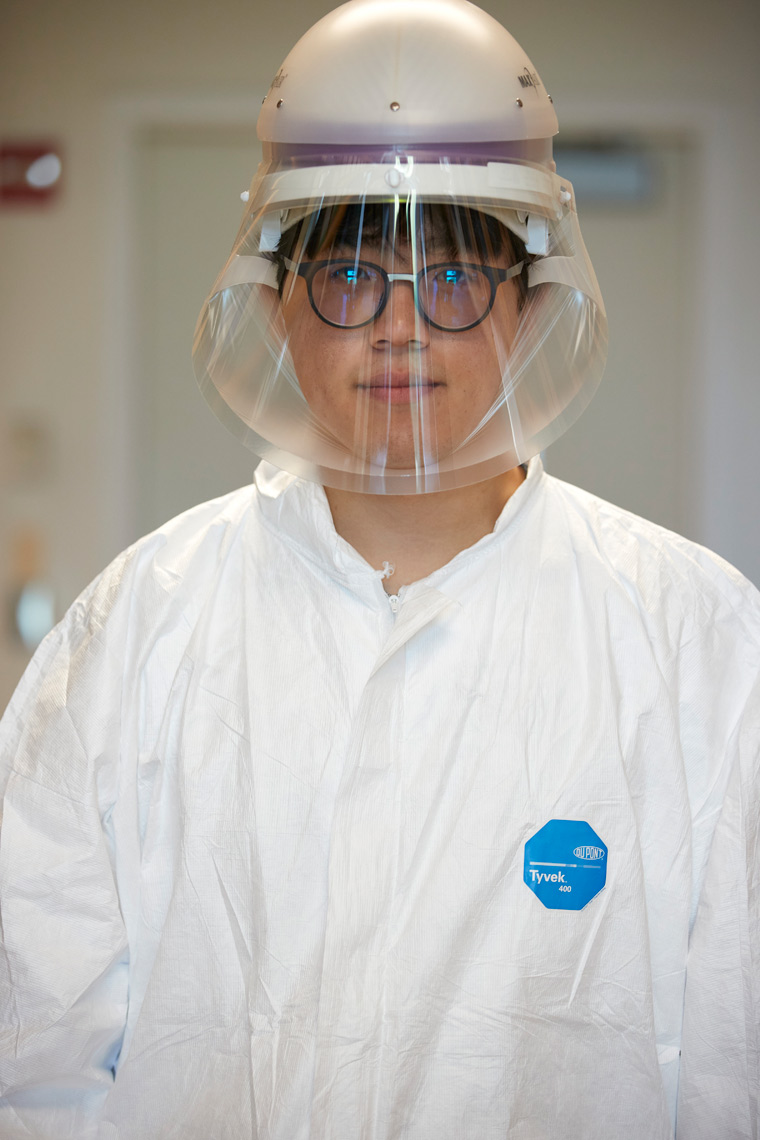 Covid Researcher in PPE