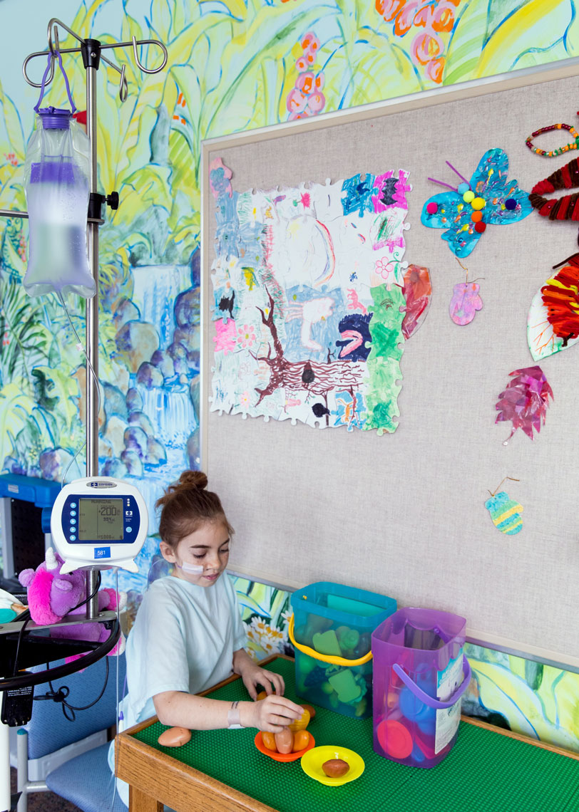 Pediatric Patient Plays with Toys at UC Davis Medical Center