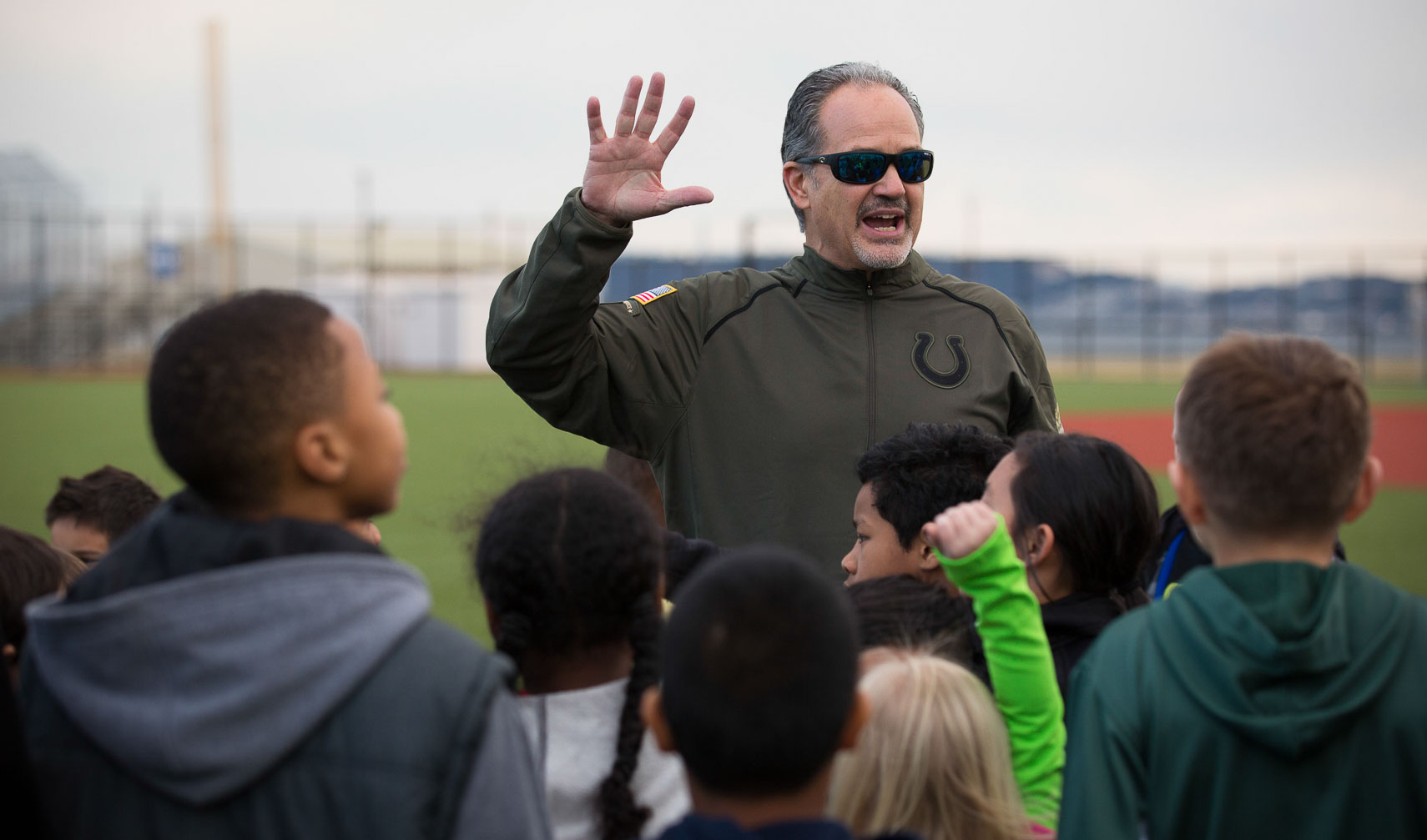 USO Colts Chuck Pagano