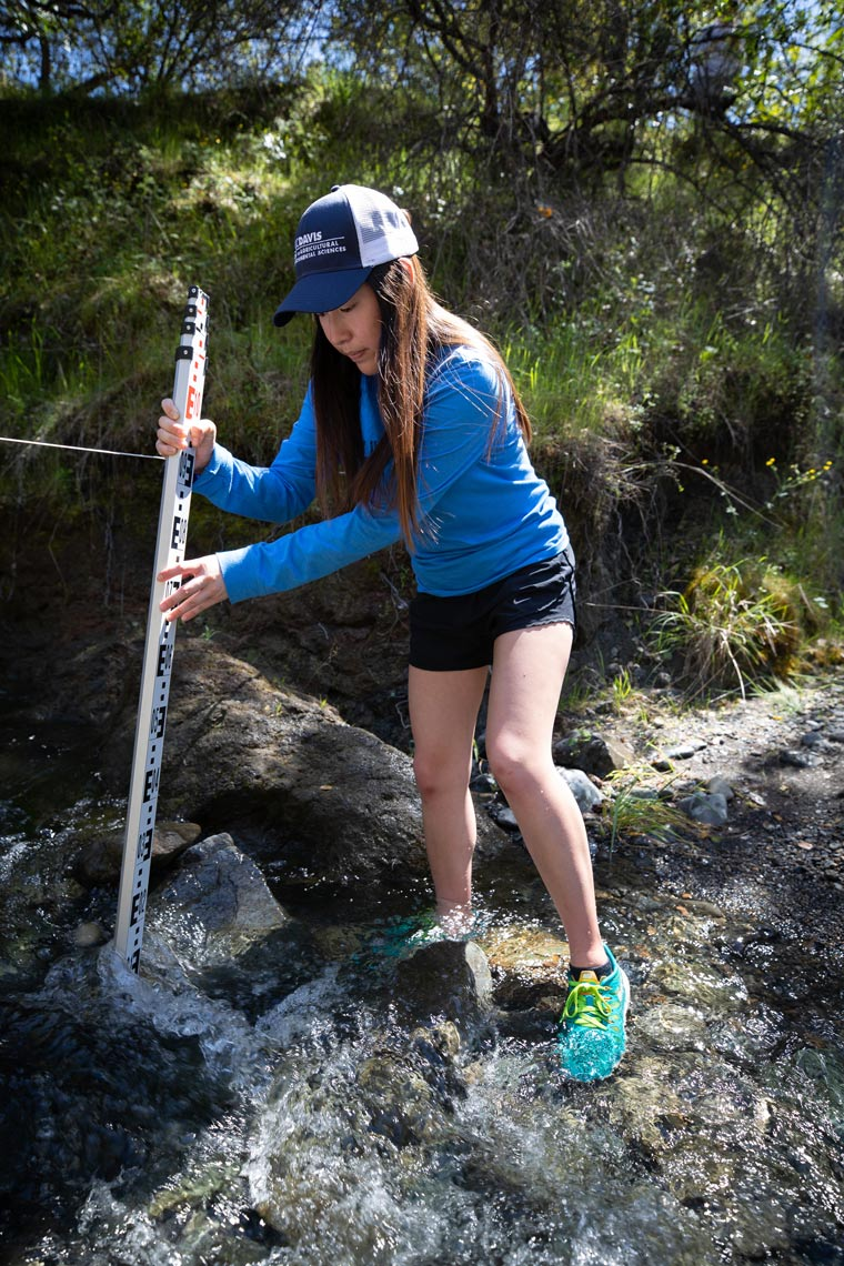 Student Measures Water Flow