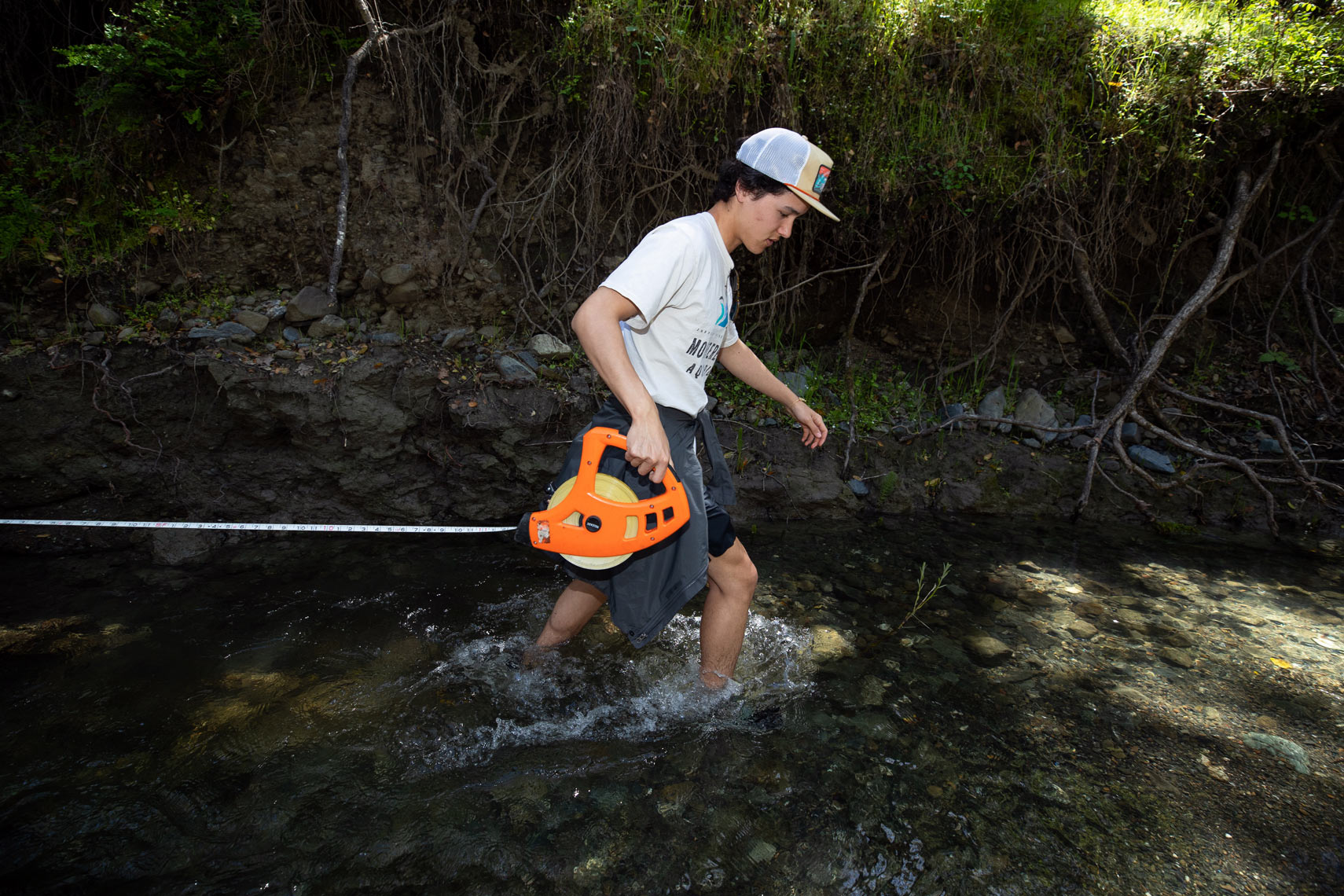 Using Tape Measure in a Stream