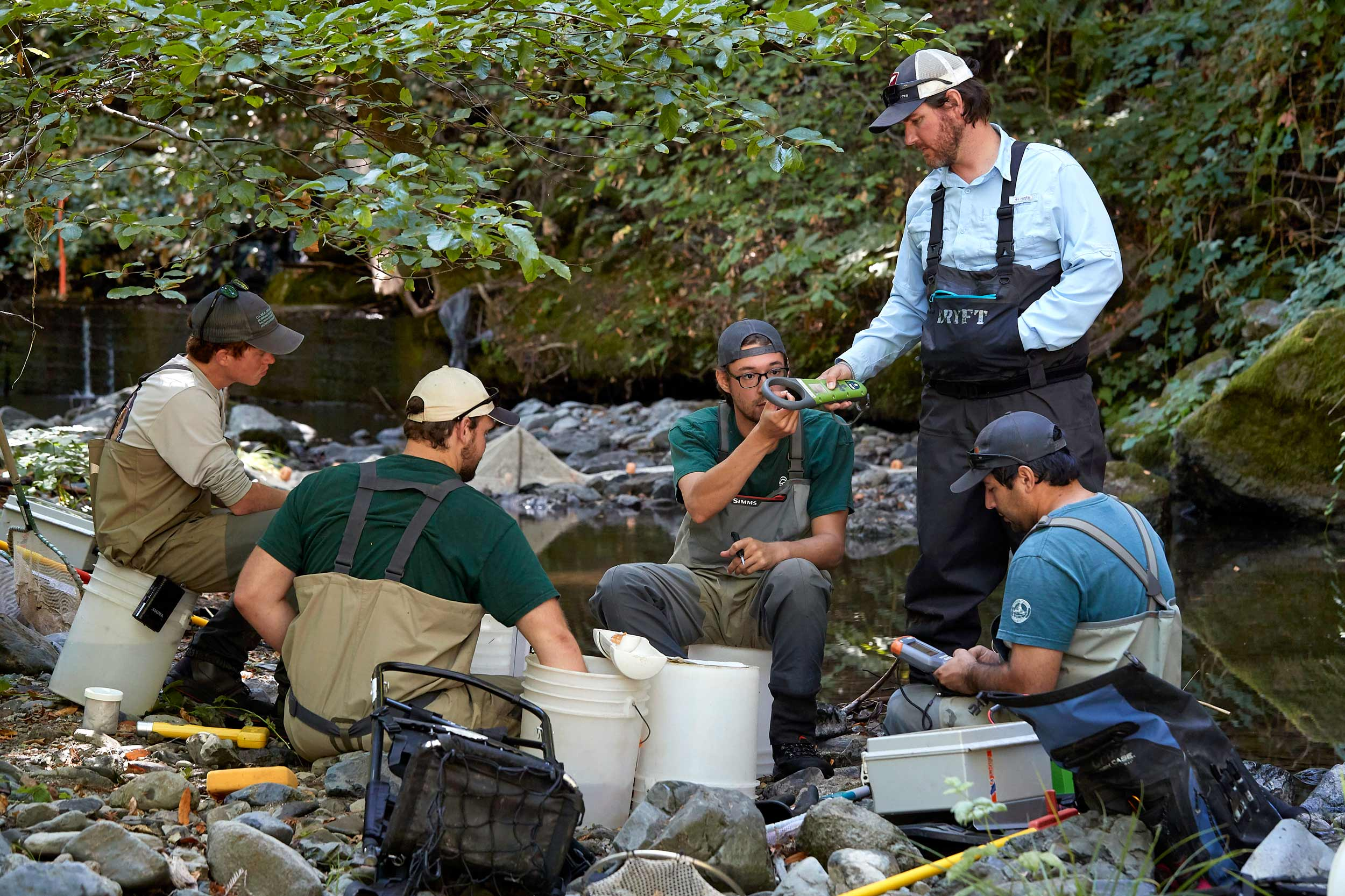 Russian River Salmon and Steelhead Monitoring Program team