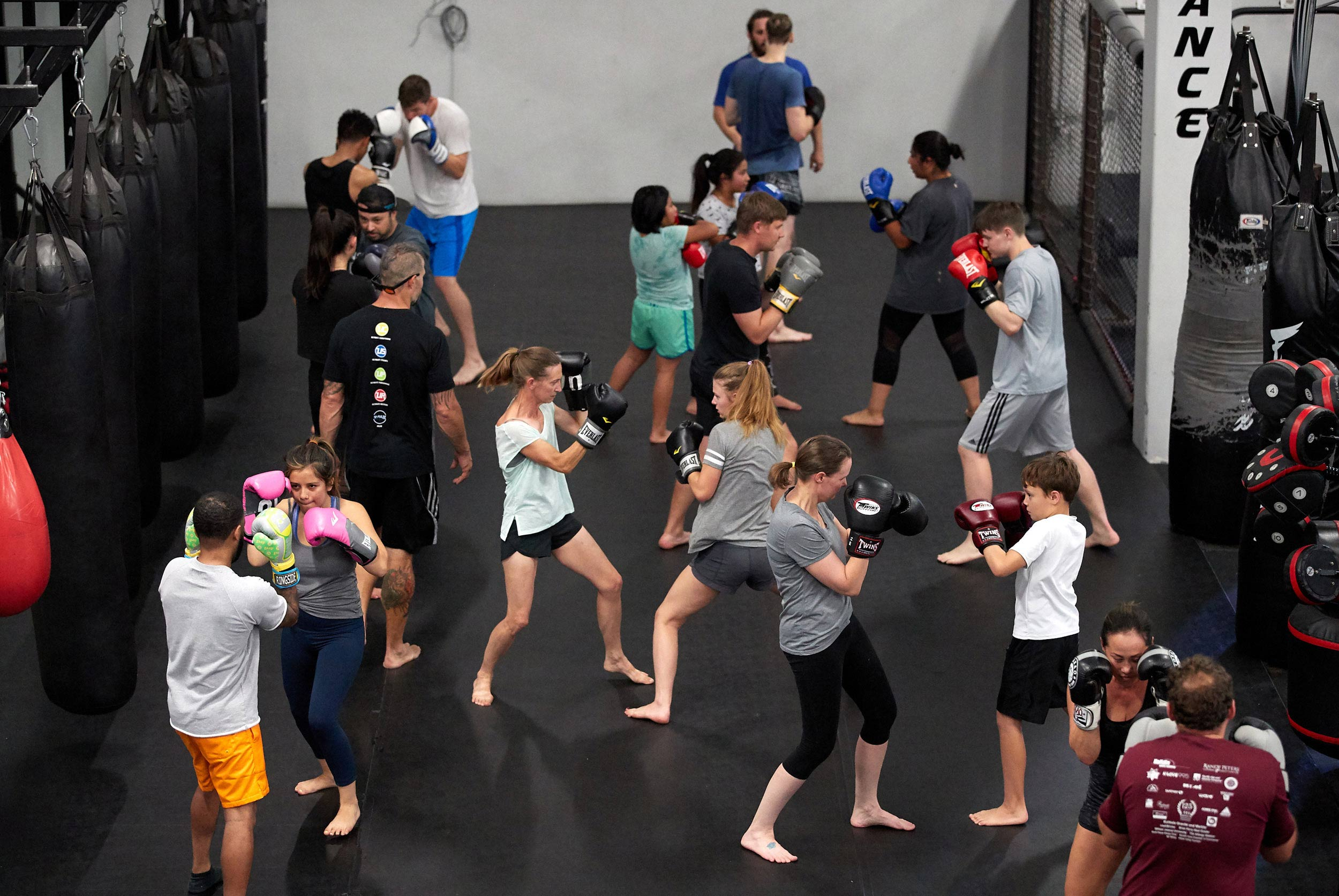 Boxing Class Participants at  Uriah Farber