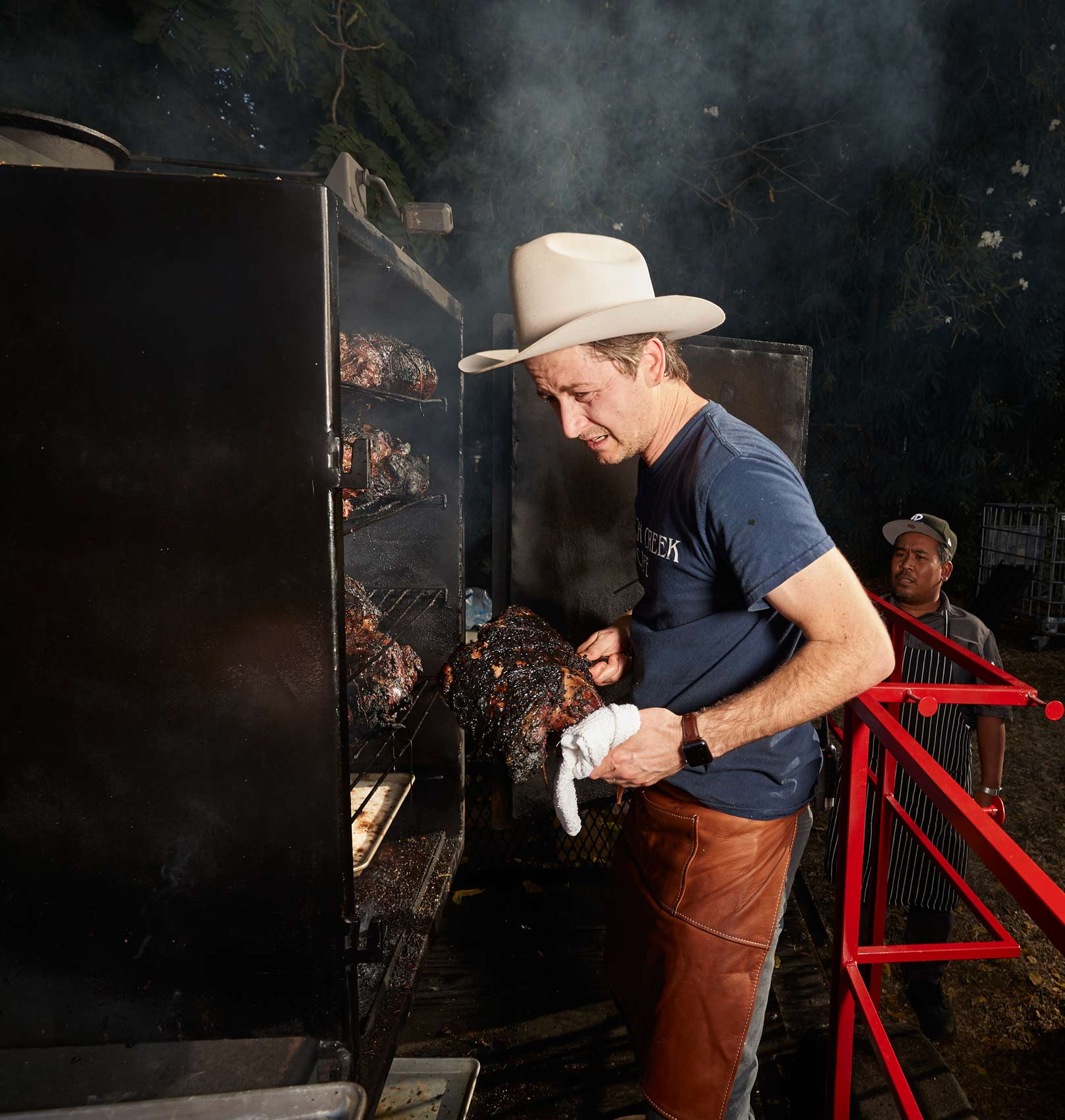 Chef Bret Constantino Smoking Brisket