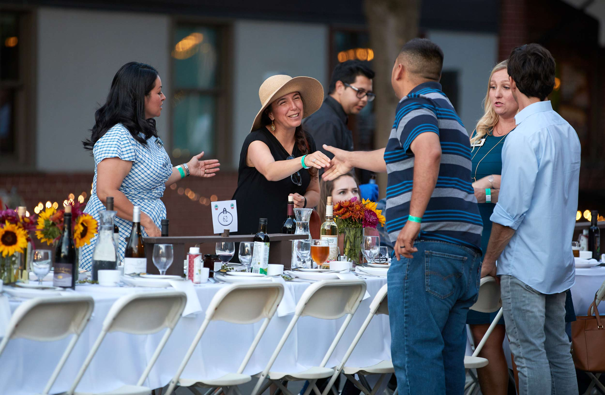 Diners Greet One Another at Woodland