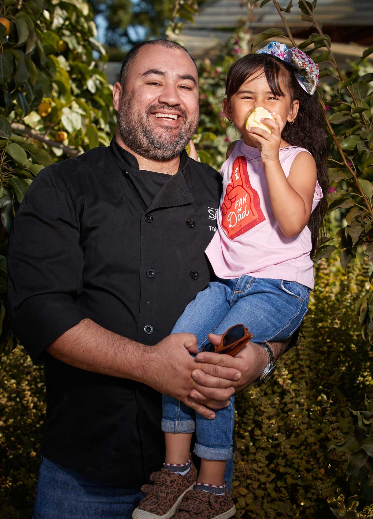 Chef Toby Barajas (and daughter)