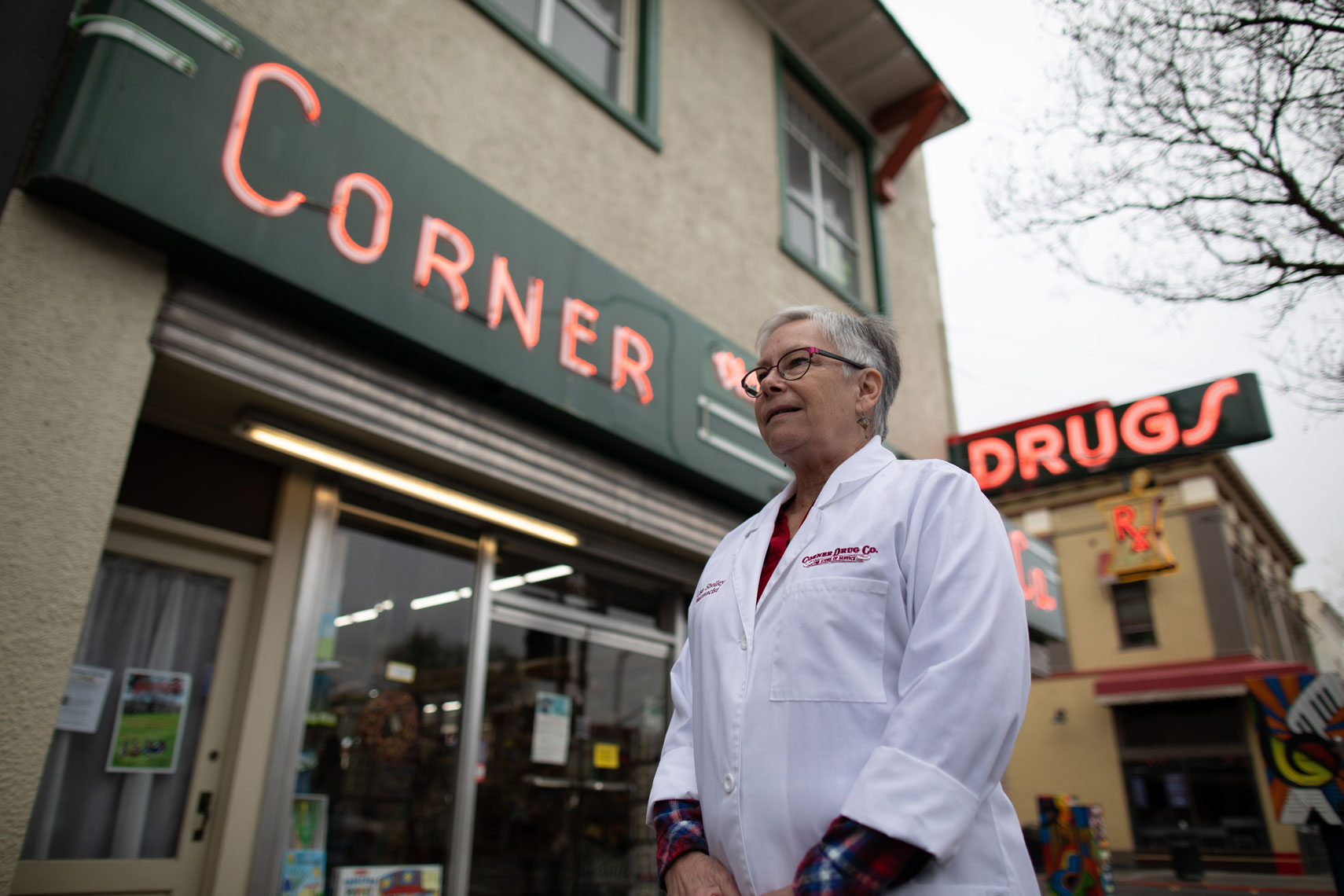 Lisa Shelley Outside Corner Drug Store  in Woodland, CA