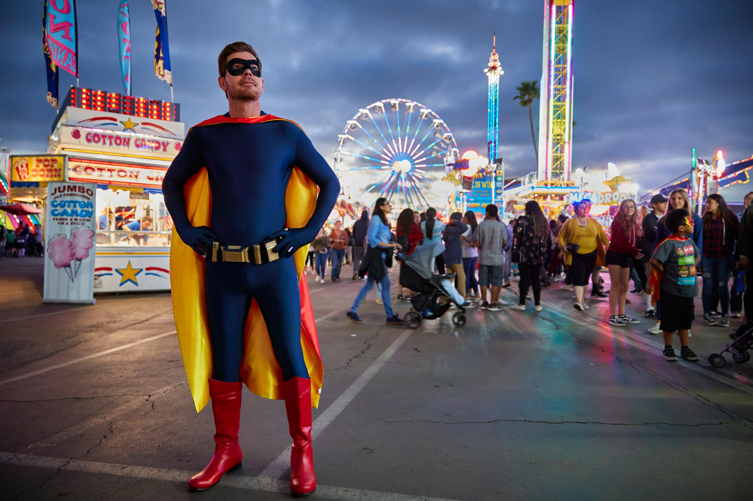 Superhero at the Fair