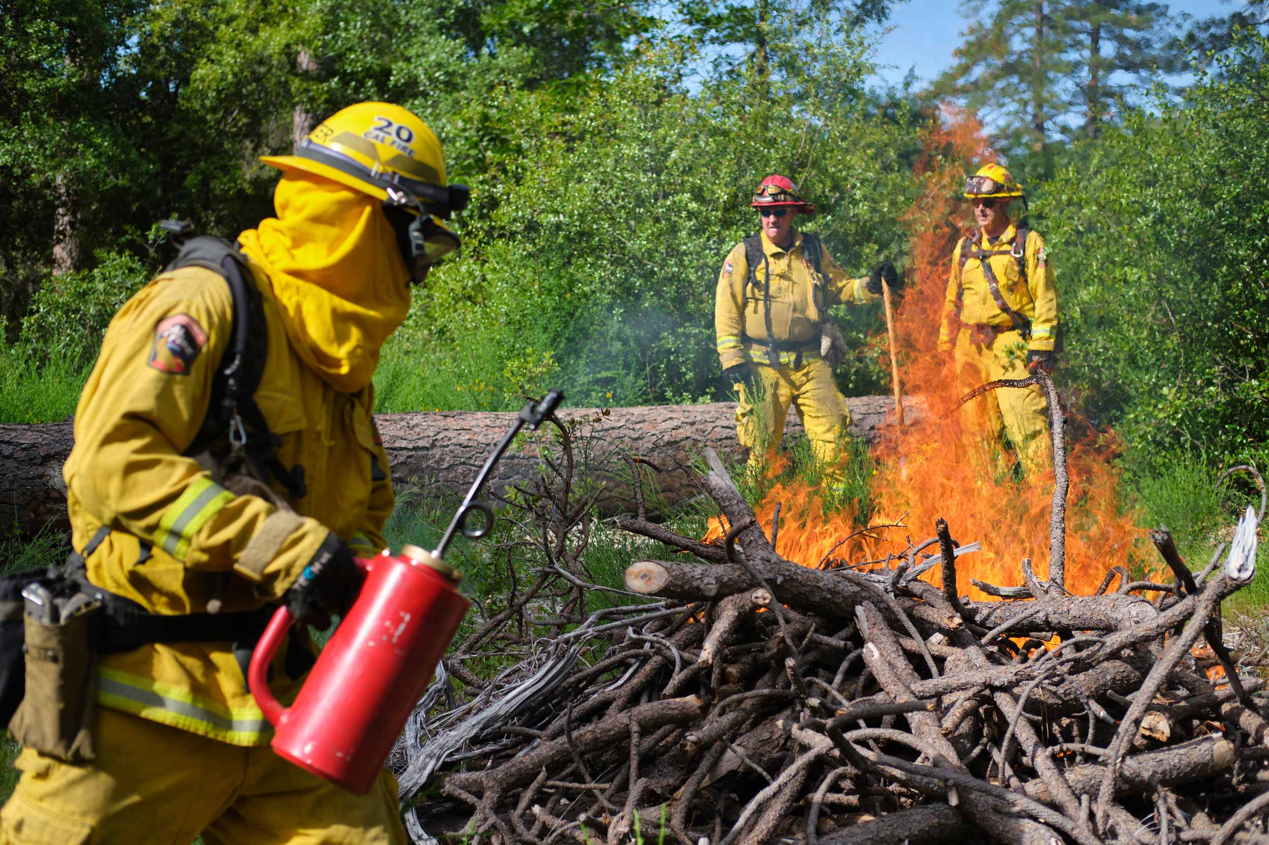 Firefighters Manage California Controlled Burn