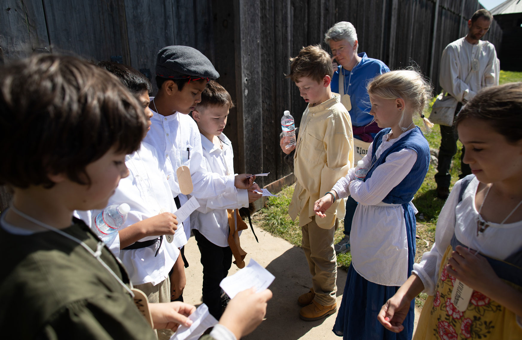 Students at Fort Ross