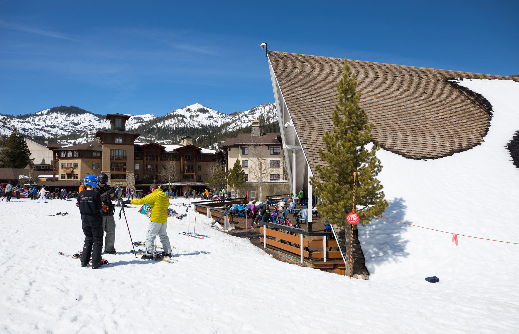 Squaw Valley Resort Skiers
