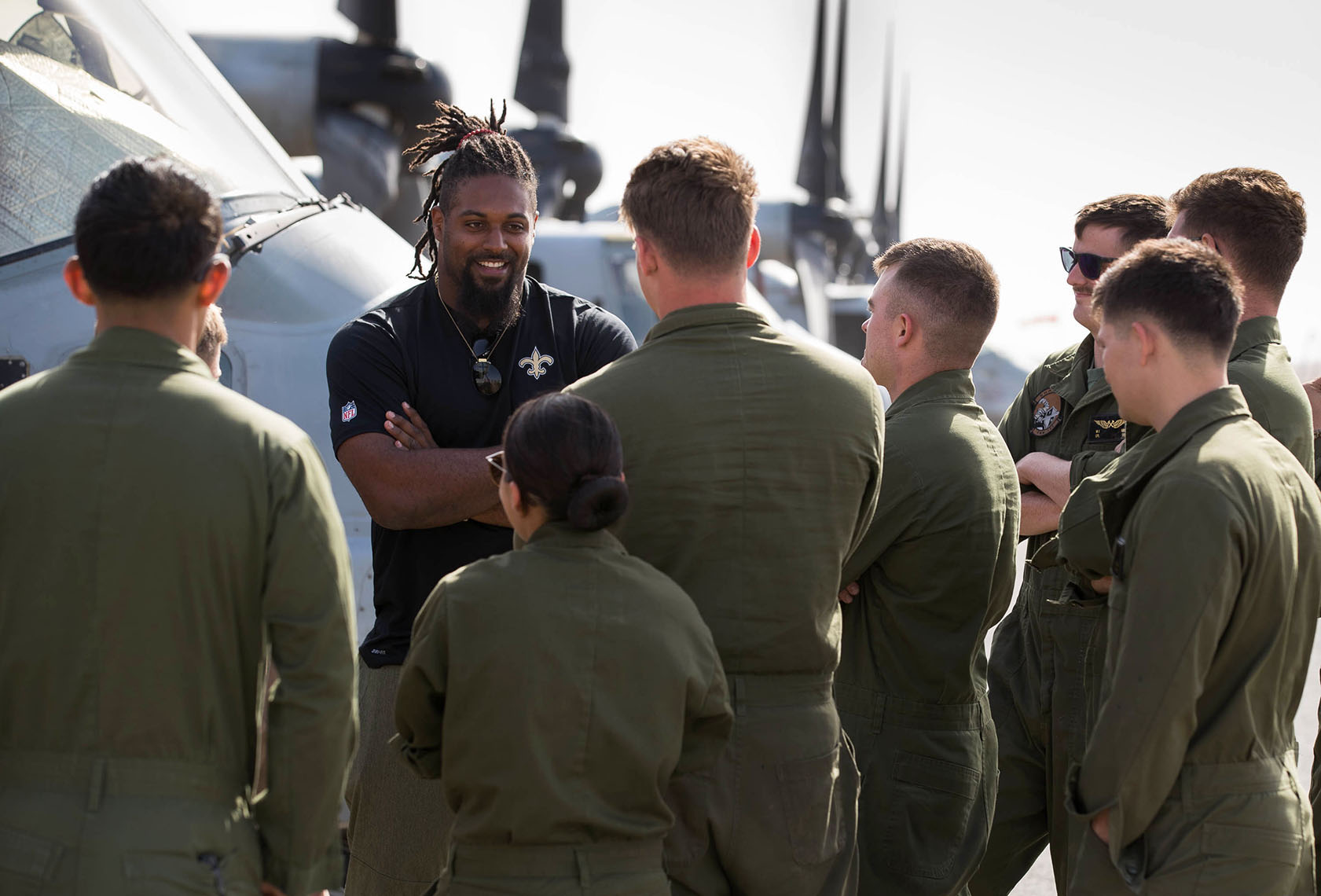 NFL Player Cameron Jordan on USO Tour