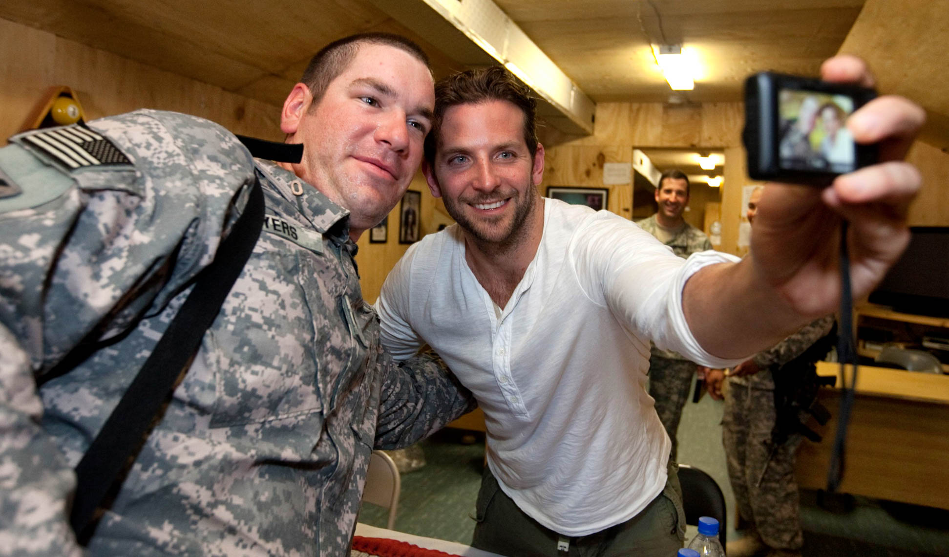 Actor Bradley Cooper on USO Tour