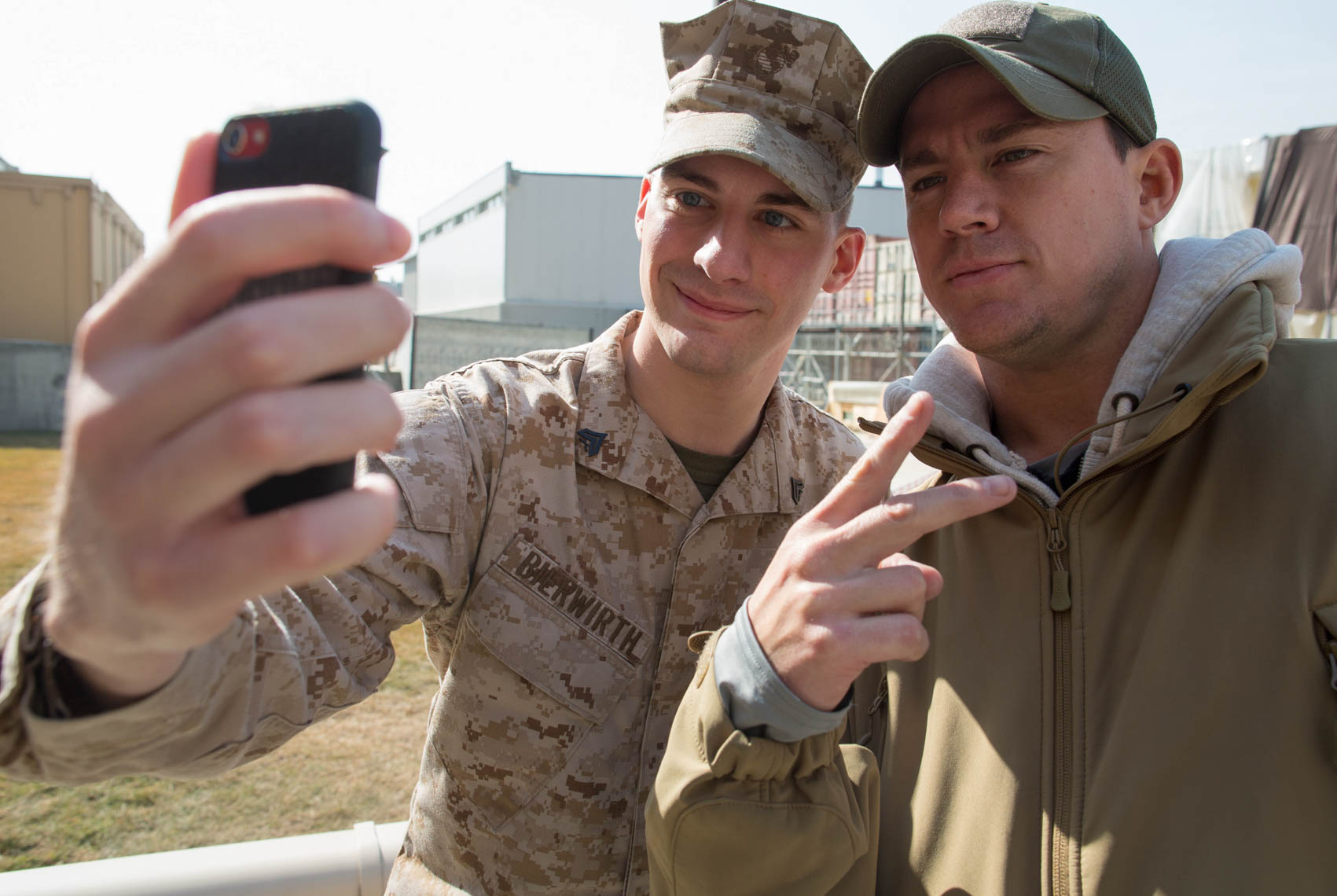 Actor Channing Tatum on USO Tour